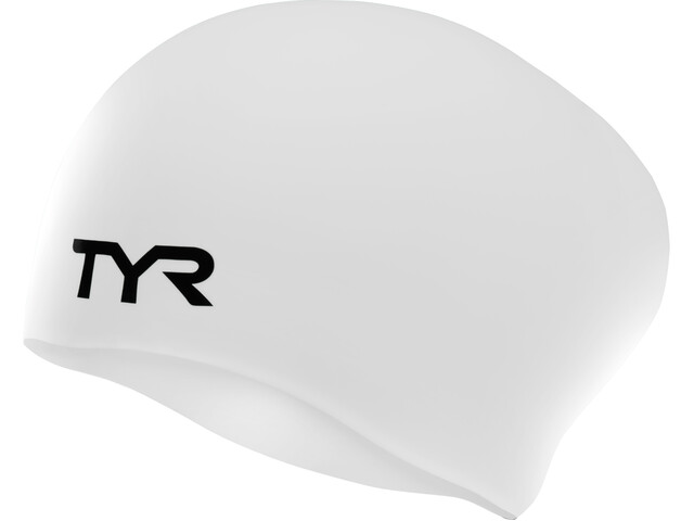 TYR Wrinkle-Free Long Hair Bonnet de bain, white
